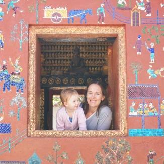 Laos Temple Window
